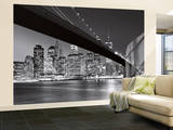 Horizonte de Manhattan Mural de papel de parede