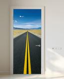 Auf dem Weg Fototapete Türposter Wandgemälde