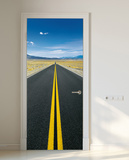 On the Go Door Wallpaper Mural Mural de papel de parede