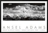Monte McKinley Range, Nuvens, Parque Nacional de Denali, Alaska, 1948 Posters por Ansel Adams