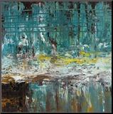 Deep Waters II Druck aufgezogen auf Holzplatte von Jack Roth