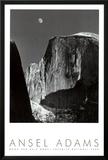 Lua e Half Dome, Parque Nacional de Yosemite, 1960 Pôsters por Ansel Adams