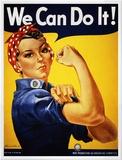 Nós podemos fazê-lo! (Rosie, a Rebitadeira) Impressão em tela emoldurada por J. Howard Miller