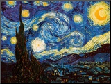 Starry Night, c.1889 Mounted Print by Vincent van Gogh
