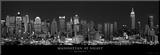 Manhattan om aftenen, New York City Monteret tryk af Richard Sisk
