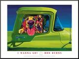 I Wanna Go Impressão montada por Ron Burns