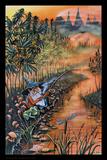 Gnome Fishin' Poster van Mike DuBois