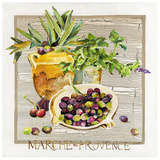 Marche Provence Olives Art by  Lizie