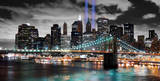 Manhattan Lights With Brooklyn Bridge Pósters por  Deng