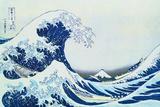 La grande vague sur la côte de Kanagaua Affiches par Katsushika Hokusai