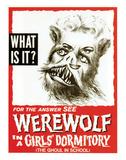 Werewolf In A Girls' Dormitory - 1961 Giclée-vedos