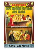 How Motion Pictures Are Made - 1914 Impressão giclée