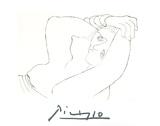 Femme Couchee Impressão colecionável por Pablo Picasso