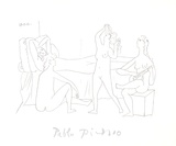 Quatre nus au harem Impressão colecionável por Pablo Picasso