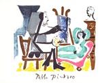 Le Peintre et Son Modele Impressão colecionável por Pablo Picasso