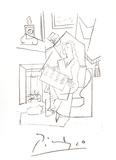 Femme Dans un Fauteuil Impressão colecionável por Pablo Picasso