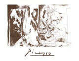 Chevalier en Armure, Page et Femme Nue Sammlerdrucke von Pablo Picasso