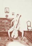 The Cellist (Sepia) Samlertryk af Branko Bahunek