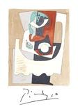 Nature Morte au Gueridon et a l'Assiette Reproduction pour collectionneur par Pablo Picasso