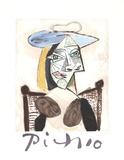Femme au Fauteuil Canne Sammlerdrucke von Pablo Picasso