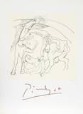 Taureau et Cheval Impressão colecionável por Pablo Picasso