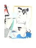 Le Pientre et Son Modele Impressão colecionável por Pablo Picasso