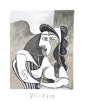 Femme Accoudee au Fauteuil Impressão colecionável por Pablo Picasso