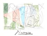 Jouer de Flute et Gazelle Impressão colecionável por Pablo Picasso