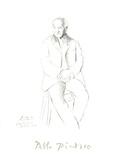 Portrait du Maitre de Ballet de la Scala de Milan Impressão colecionável por Pablo Picasso