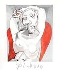 Femme au fauteuil rouge Sammlerdrucke von Pablo Picasso