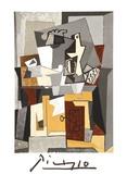 Nature Morte a la porte et a la clef Impressão colecionável por Pablo Picasso