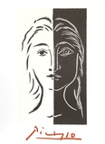 Portrait en Deux Parties Noire et Blanche Sammlerdrucke von Pablo Picasso