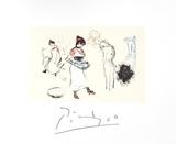 Etude de Personnages Impressão colecionável por Pablo Picasso