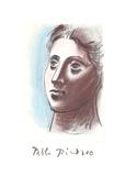 Portrait de Femme a Trois Quart Gauche Impressão colecionável por Pablo Picasso