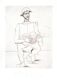 Arlequin Moustachu a la Guitare Reproduction pour collectionneur par Pablo Picasso