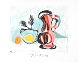 Nature Morte au Pichet Rose Reproduction pour collectionneur par Pablo Picasso