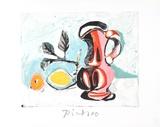 Nature Morte au Pichet Rose Impressão colecionável por Pablo Picasso