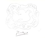 Etudes De Mains et Colombe Collectable Print by Pablo Picasso