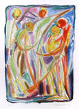 Bailarines Lámina coleccionable por Chaim Goldberg