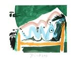 Ne Allongee et Tete D'Homme de Profil Sammlerdrucke von Pablo Picasso