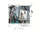 Femme Dans L'Atelier Impressão colecionável por Pablo Picasso