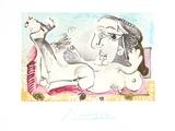Nu Couche l'oiseau Sammlerdrucke von Pablo Picasso