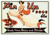 Pin Up Pale Ale Beer Bowling Plaque en métal