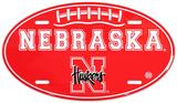 Nebraska Huskers Oval License Plate Blikskilt