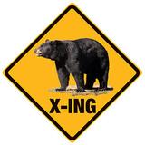 Black Bear Crossing Plåtskylt