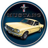 Ford Mustang Car Round Carteles metálicos