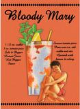 Bloody Mary Drink Recipe Sexy Girl Plaque en métal