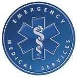 Emergency Medical Services EMS Ambulance Round Blechschild