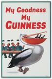 My Goodness My Guinness Beer Pelican Plaque en métal
