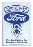 Genuine Ford Parts V-8 Blikkskilt